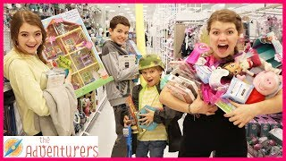 Anything You Can Carry I Will Buy It Shopping Challenge / That YouTub3 Family I The Adventurers