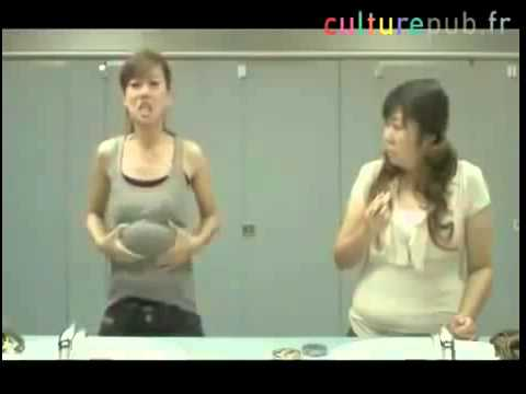 a funny way to massage the stomach into the breast you must watch
