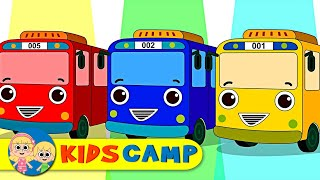 Learn Colors for Children with Wheels On the Bus Finger Family Songs Collection by KidsCamp