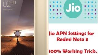 Jio APN setting in Redmi Note 3. 100% Working. Proof in Video [ Hindi Tutorial]