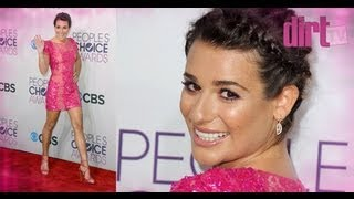 Lovely Legs Lea Michelle At The 2013 People's Choice Awards! - The Dirt TV