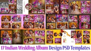 How To Free Download 17 Indian Wedding Album Design PSD Templates From StudioPk