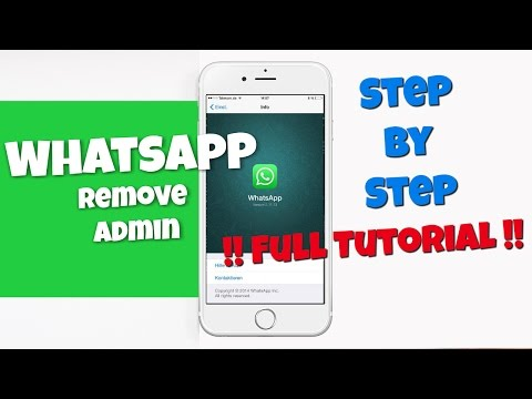 Remove - Delete Group Admin from WhatsApp - How to