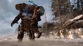 God of war 5 official trailer kratos fight with a GIANT