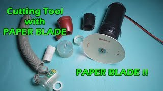 How to make a dremel/Cutting tool with Paper Blade