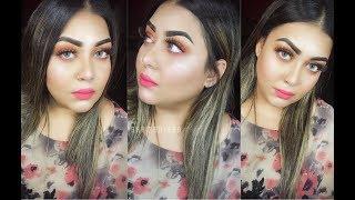 Eid Day Makeup Tutorial With Glittery Sunset Eyeshadow 2018|| by Leo na Rahman Lean