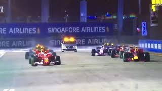 F1 Singapore Incidente Raikkonen Vettel Verstappen Ferrari