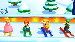 Mario Party: The Top 100 - Luigi vs Wario vs vs Mario vs Peach| Cartoons Mee