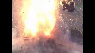 القنبلة الفراغية بالتصوير البطئ
