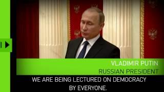 'Degradation of democracy': Putin responds to EU Parliament resolution on Russian media 'propaganda'