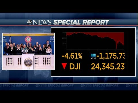 Xxx Mp4 Dow Jones Closes Down Nearly 1 200 Points ABC News Special Report 3gp Sex