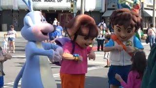 4K Dora,Diego, and Jaguar show END at Universal Studios Orlando Florida 2017 Attraction Tube HD