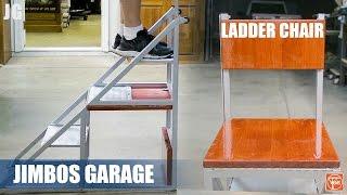 Metal Ladder Chair - JIMBOS GARAGE