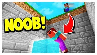 NOOB vs EASIEST MINECRAFT DROPPER MAP! 😂