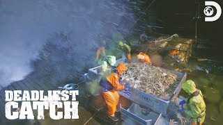 Deckhand Freddy Takes a Hit to the Knee | Deadliest Catch
