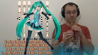 MIKU HATSUNE Levan Polkka en Flauta Dulce (Recorder Flute) - Cover con notas- TUTORIAL  初音ミクレコーダー
