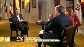 """Ahmadinejad on Israel: """"We have never threatened them"""""""