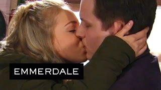 Emmerdale - Belle Kisses Lachlan