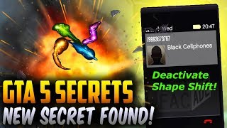 ALIEN RON BLACK CELL PHONE NEW DISCOVERY! GTA 5 MYSTERY