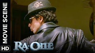 Shah Rukh Khan in Michael Jackson look | RA.One | Movie Scene
