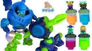 РОБОТЫ ТРАНСФОРМЕРЫ! Пилоты в Лизуне! Мумия против Бластера  Ready2Robot | Slime Robot Battles