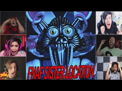 Gamers Reactions to Funtime Foxy Jumpscare Five Nights at Freddy s Sister Location