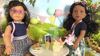 Poupeées American Girl My Life Dolls Pique-nique au Parc