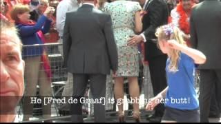 alcalde toca el culo a la reina de holanda