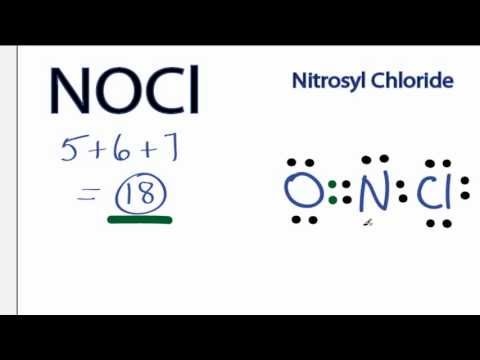 NOCl Lewis Structure - How to Draw the Lewis Structure for NOCl