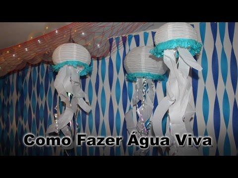 Decoração para festa Agua Viva Fundo do mar