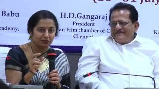 Suhasini Maniratnam Actresss Speaks About Kannada Film Festival Press Meet | TOC