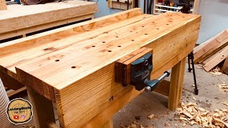 Amazing Workbench Build | Hand Tool Woodworking