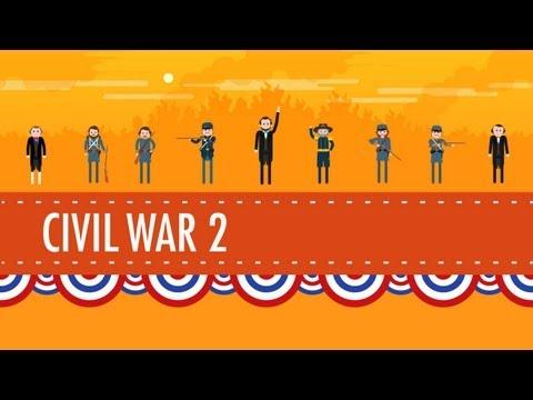watch The Civil War Part 2: Crash Course US History #21