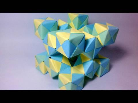 Origami Moving Cubes 2 using Sonobe units