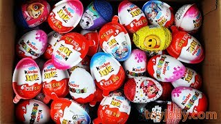 New Kinder Surprise Eggs Kinder Joy for Boys & Girls Unboxing Learn Colors Play doh Molds for Kids