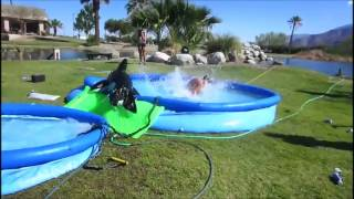 FAIL Slip and Slide - Girl looses her top and bottom