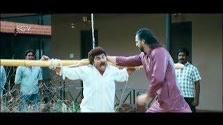 Jaggesh & Kuri Prathap in Heroine Home Comedy Scenes | Cool Ganesha Kannada Movie