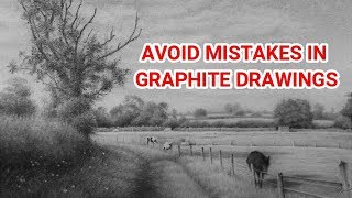 Repair Graphite Drawings - What To Do When It All GOES WRONG?