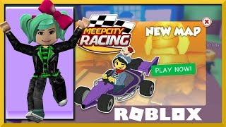 New Map and New Gadgets!! Roblox MeepCity Racing, SallyGreenGamer Geegee92 Family Friendly
