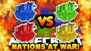 Minecraft NATIONS AT WAR! (New Map, Conquer Enemy Capitals & Fight!) #2   w/ Preston & Vikkstar123