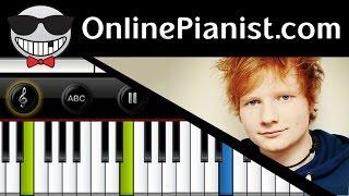 Ed Sheeran - Thinking Out Loud - Piano Tutorial & Sheets (Intermediate)