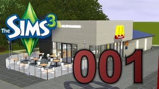 Sims 3 Speed Build REAL #001 McDonalds + free download