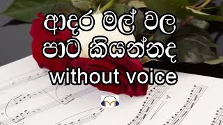 Adara mal wala - Track - Without voice ආදර මල් වල පාට කියන්නද