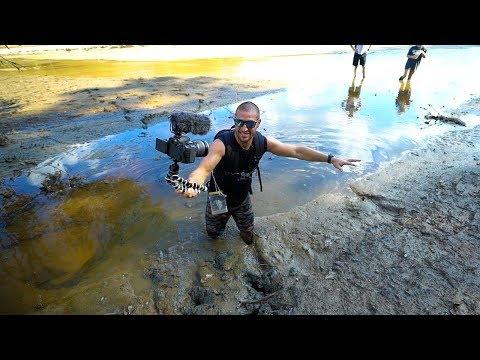 Treasure Hunting Searching A Drained Lake Deep Mud