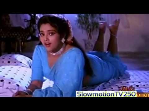 beautiful actress Meena Sexy danm hot Ass in Blue Saree on Bed hot