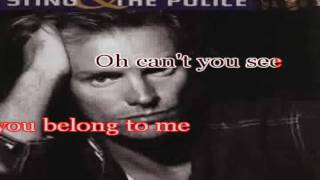 Sting karaoke- Every breath you take