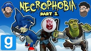 WIILSOOOOON!!! || Gmod Horror Map: NECROPHOBIA || PART 1 || HOBO BROS