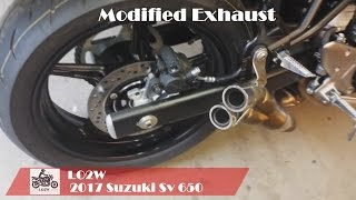 Top 5 Full Exhaust Sound 2017 Suzuki SV650 / Yoshimura, Two Brothers, Modified exhaust