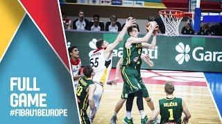 Germany v Lithuania - Full Game - Semi Final - FIBA U18 European Championship 2016