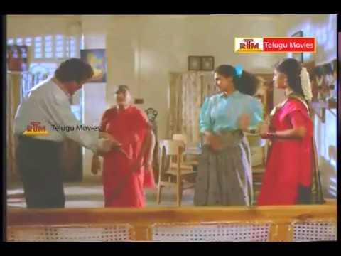 Aa Okkati Adakku Telugu Movie Rajendraprasad & Rambha First Night Scene